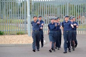 Another drill squad practices before their turn to demonstrate their hard earned skills as a group.