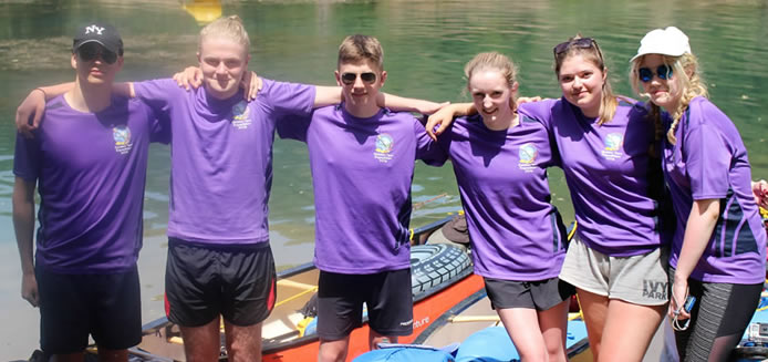 Air Cadets paddle to success on Exercise Golden Tarn