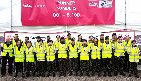 Earley and Burghfield help at Reading Half Marathon