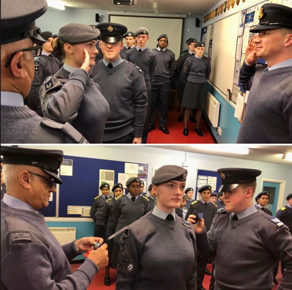 Promotions time at Windsor Sqn